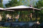 آماده سازی پلاژها در کوشک گیلان