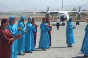 استقبال از میهمانان در فرودگاه پنجکیت