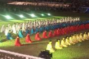 جشن در ورزشگاه شهر پنجکیت