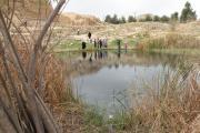دریاچه کنار آتشکده کاریان