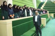 دیدار دانش آموزان راهنمایی گشتاسب از جلسه مجلس