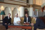 نماینده زرتشتیان با رییس گروه دوستی عمان