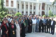 نمای بیرونی مجلس در بهارستان با نمایندگان نهادهای زرتشتی