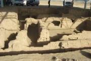 میهمانان در دیدار از معماری باستانی شهر سرزم