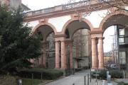 ورودی بخشی از دانشگاه گوته در شهر فرانکفورت